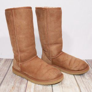 UGG Tall Chestnut Women's Shearling Boots Size 7